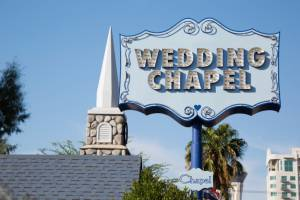 Pop-up Wedding chapel sign in Las Vegas, Nevada
