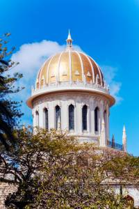 Bab Shrine in Bahai Garden, Haifa, Israel
