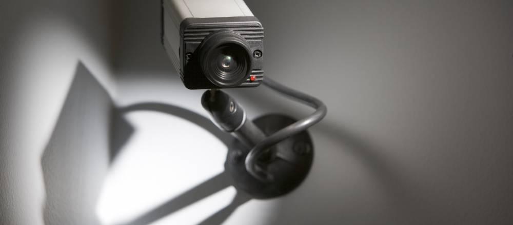 Security camera in a church
