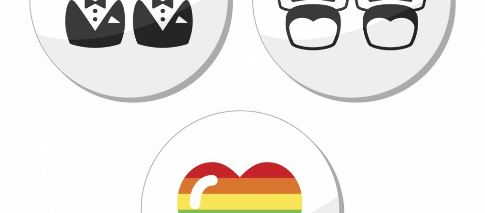 Same Sex Marriage Icons.