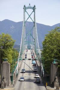 Lion Gates Bridge is one of many places to spend your Vancouver Honeymoon.