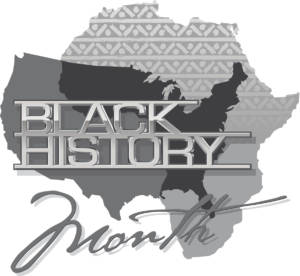 Black History Heading showing Africa and North America.