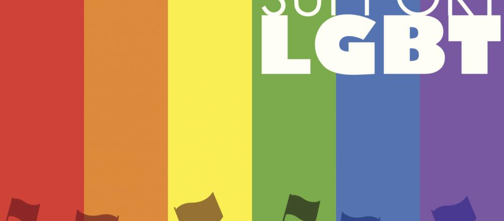 A rainbow flag supporting LGBT