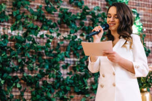 While being asked to speak at a wedding can make many people nervous, a little preparation can give you a boost of confidence in your speaking role.