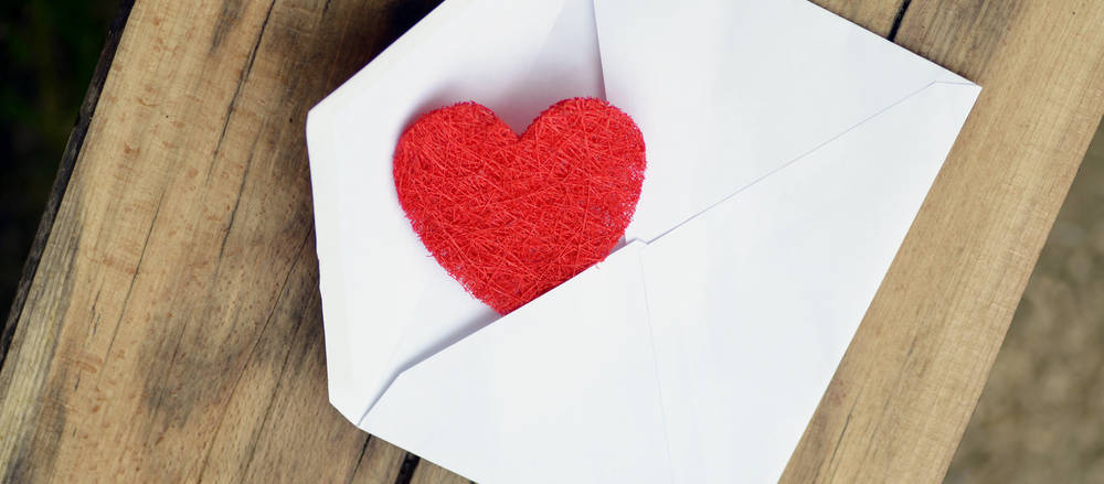 envelope with heart inside
